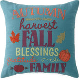 JCP HOME JCPenney HomeTM Autumn Words Square Decorative Pillow
