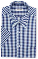Pierre Cardin Blue & Navy Check Short Sleeve Dress Shirt