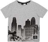 Molo Kids City Skyline Cotton Jersey T-Shirt-Grey