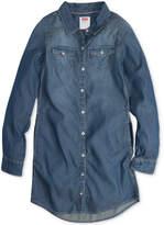 Levi's Western-Style Chambray Shirtdress, Big Girls