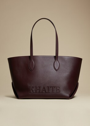 KHAITE The Florence Tote in Deep Red Leather