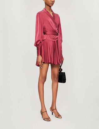 Zimmermann Wrap-over silk mini dress