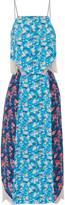 Tanya Taylor Hana lace-trimmed printed silk-crepe dress