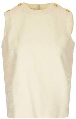 Gucci GG Sleeveless Button Detail Top