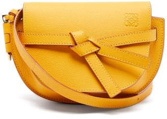 Loewe Gate Mini Leather Cross-body Bag - Yellow