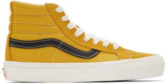 Vans Yellow and Black OG Sk8-Hi LX Sneakers