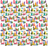 Wall Candy Arts WallCandy Arts - French Bull Cityscape Removable WallPaper