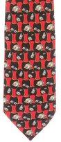 Burberry Geometric Fish Print Silk Tie