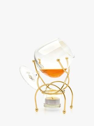 Final Touch Brandy Glass & Warmer Gift Set, Gold