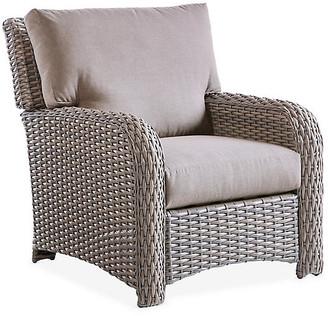 Tropez St. Wicker Club Chair - Gray/Gray - South Sea Rattan