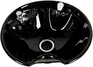 Jeff & Co. Jeffco Black 8200 Tilting Porcelain Shampoo Bowl