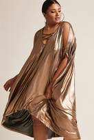 Forever 21 FOREVER 21+ Plus Size Metallic Cocoon Dress