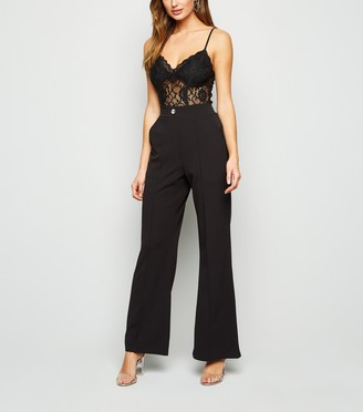 New Look Cameo Rose Diamante Button Trousers