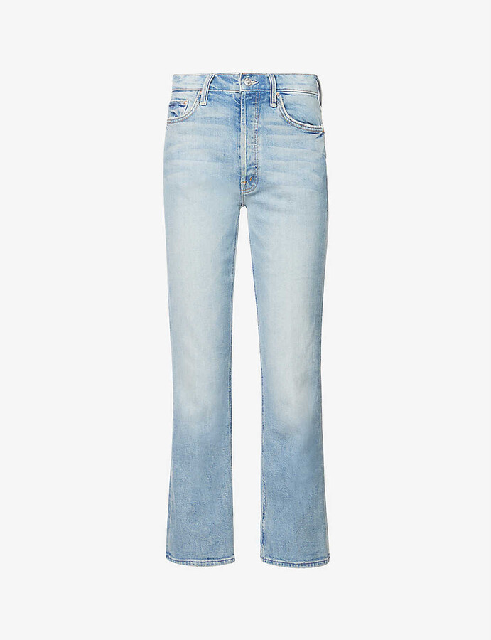 Thumbnail for your product : Mother The Tripper high-rise bootcut-leg stretch-denim jeans
