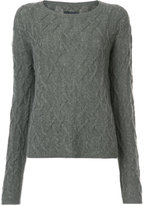 Nili Lotan cable knit slim-fit jumper - women - Cashmere - S