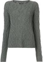 Nili Lotan cable knit slim-fit jumper