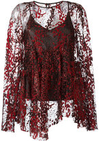 Opening Ceremony glitter detail blouse - women - Nylon/Polyester - 4