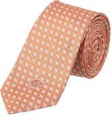 Versace Peach Geometric Silk Tie