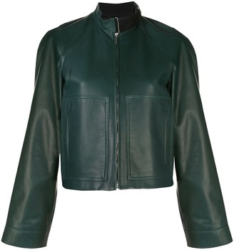 Rosetta Getty Boxy Fit Leather Jacket