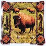 Dickens & Smyth Buffalo Lodge Woven Pillow