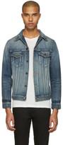 Saint Laurent Blue Denim 'Sweet Dreams' Shark Patch Jacket