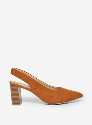 Dorothy Perkins Womens Wide Fit Tan 'Emily' Court Shoes