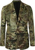 Givenchy camouflage print blazer