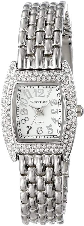 Vernier Women's VNR721 Feminine -Tone Tonneau Quartz Bracelet Watch