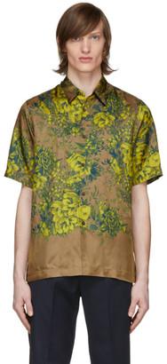 Dries Van Noten Tan Floral Short Sleeve Shirt