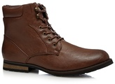 Red Herring Tan Lace Up Boots