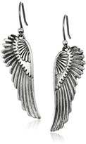 Lucky Brand Silver Feather Earrings