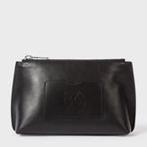 Paul Smith Women's Black Leather PS Logo Make-Up Bag