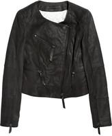 Karl Lagerfeld Jacey snakeskin-effect leather jacket
