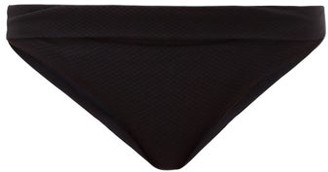 Heidi Klein High-rise Fold-over Bikini Briefs - Black