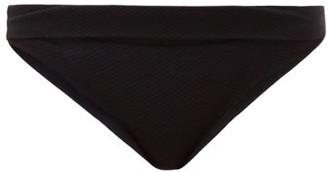 Heidi Klein High Rise Fold Over Bikini Briefs - Womens - Black