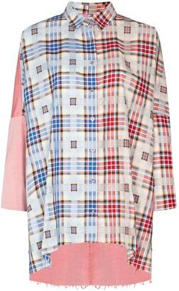 Marques Almeida reMAde patchwork shirt