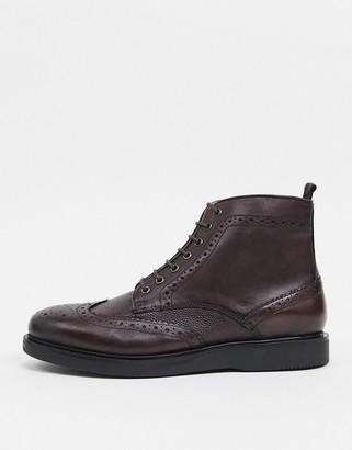 H By Hudson calverston brogues boots burgundy scotch