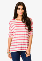 Forever 21 Dolman Striped Tee