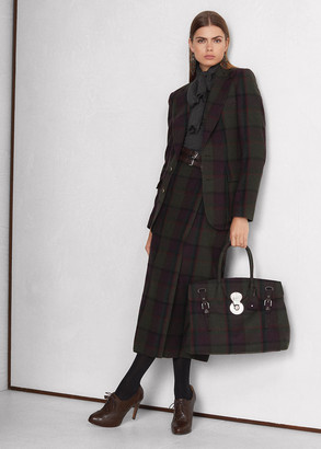 Ralph Lauren Dasha Plaid Lambswool-Cashmere Skirt