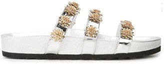Fabrizio Viti metallic flower slides
