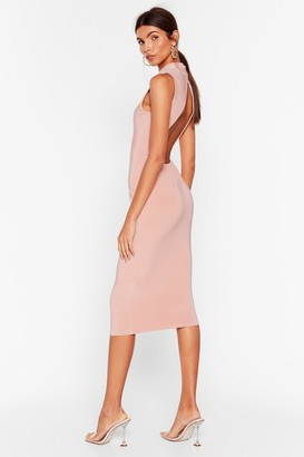Nasty Gal Womens Forget What They Slink Open Back Midi Dress - Dusty Rose