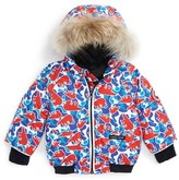 Canada Goose Infant 'Elijah' Down Bomber Jacket With Genuine Coyote Fur Trim