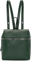 Kara Green Leather Small Backpack