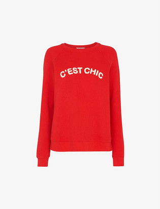 Whistles C'est Chic round-neck cotton-blend jumper