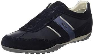 Geox Men's U Wells A Low-Top Sneakers, Blue (Navy)