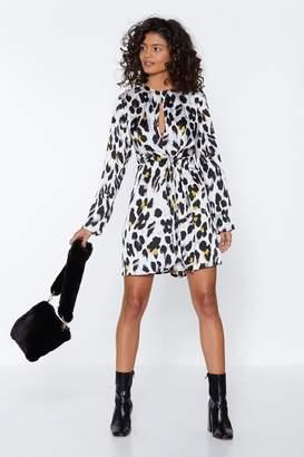 Nasty Gal Womens Nine Lives Cheetah Print Dress - white - 8