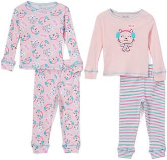 Rene Rofe Girl Girls' Sleep Bottoms ASSTPRINTS - Girls Club 'Meow' Crewneck Tee Set - Infant & Girls