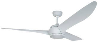 "Nordic Lucci Air 56"" 3-Blade DC Ceiling Fan With Remote Control, Blue"