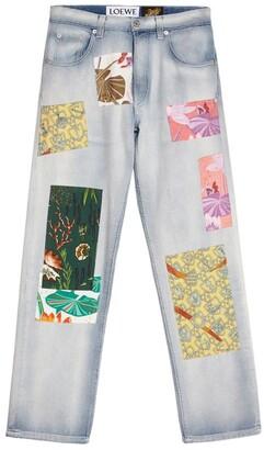 Loewe x Paula's Ibiza Printed Patch Jeans