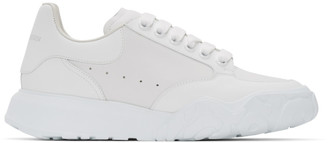 Alexander McQueen White Court Trainer Sneakers
